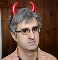 Len Vlahos, Author, Glasses, Devil Horns