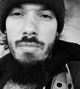 Alcy Leyva, Author, Black/White, Hat, Beard, Photograph