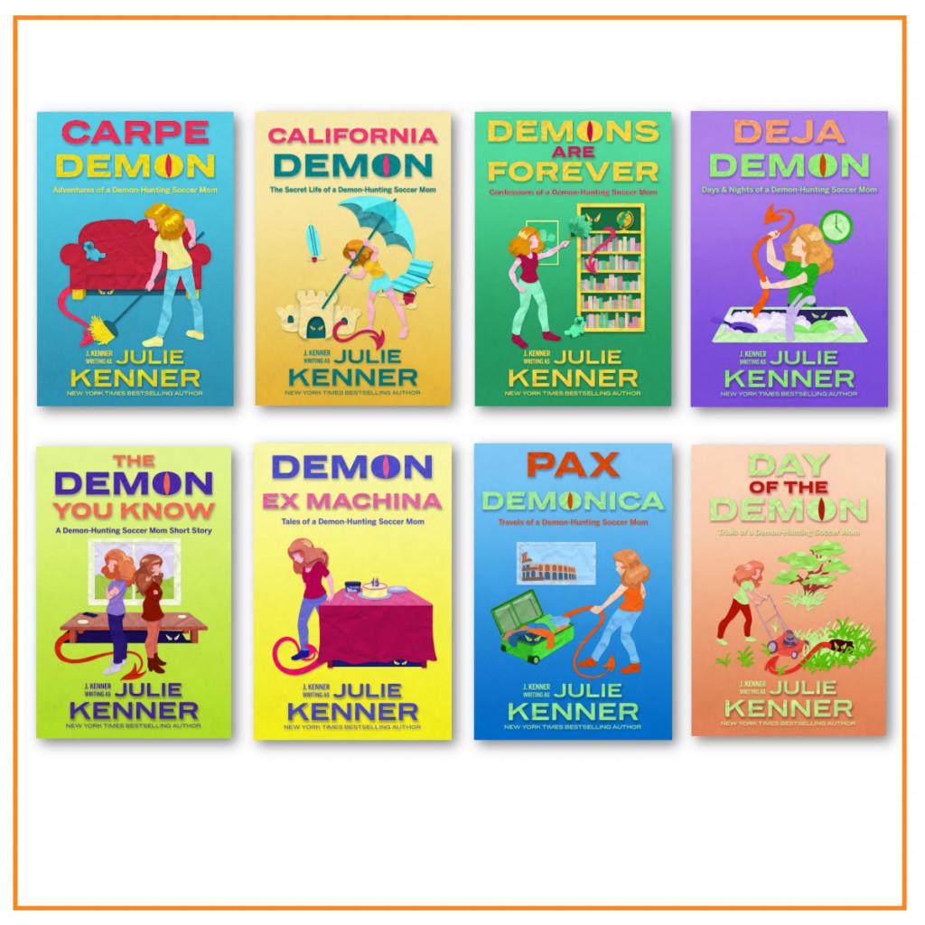 Day of the Demon, Demon Hunting Soccer Mom, J. Kenner, Orange, Green, Monster, Woman, Demons, Parenting, Humour