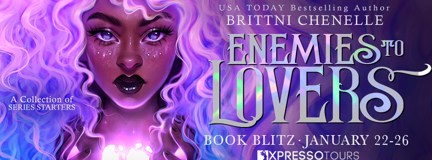 Enemies To Lovers: Series Starters Set, Curls, Heart, Girl, Pink, Purple, Blue, Shiny Font, Fantasy, Princesses, Enemies to Lovers, Romance, Brittni Chenelle