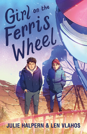 Girl on the Ferris Wheel, Boy, Girl, Ferris Wheel, Snow, Young Adult, Len Vlahos, Julie Halpern, Blue, Pink