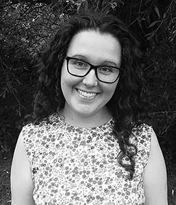 Laura Morrison, Author, Glasses, Black/White, Photograph