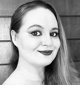 Monique Snyman, Author, Black/White, Photograph, Make-up