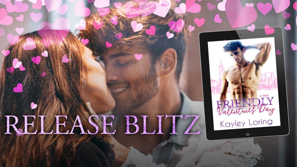 A Very Friendly Valentine's Day, Kayley Loring, Halfnaked Guy, Cityscape, Pink, Purple, Romance,