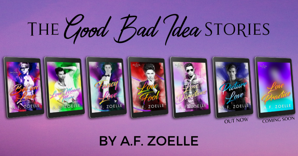 Good Bad Idea Series, Purple, Books, A.F. Zoelle, LGBT, Romance, Cute