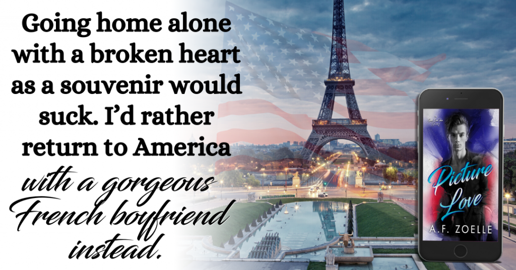 Picture Love, Good Bad Ideas Story, A.F. Zoelle, Red, Blue, Purple, LGBT, Romance, Dual POV, Eiffeltower, France