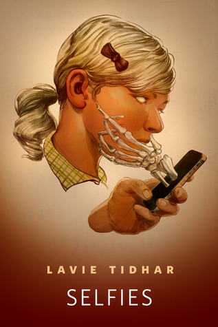 Face, Skeleton Hand, Phone, Ribbon, Lavie Tidhar, Novella, Horror, Creepy, Phones, Photographs