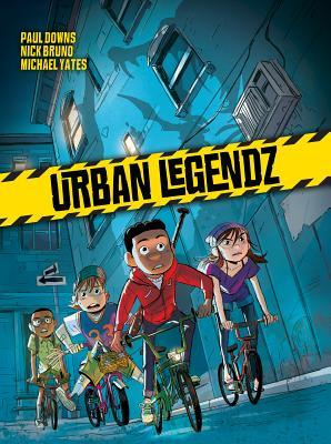 Urban Legendz, Blue, Night, Monsters, Bikes, Children, Boys, Girl, Friendship, Urban Legend, Fantasy, Graphic Novel, New York, Paul Downs, Nick Bruno, Michael Yates