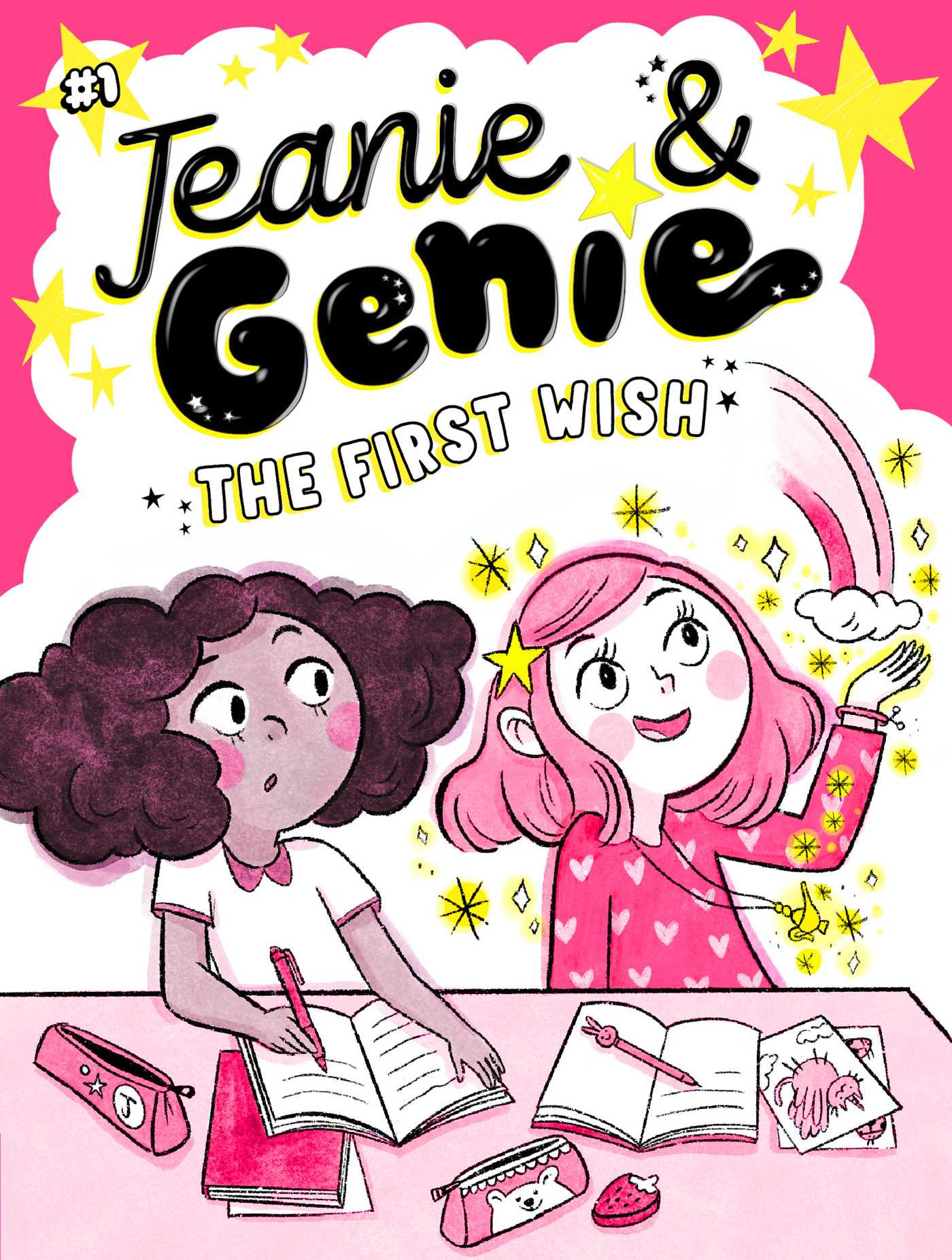 Pink, Girl, Friendship, The First Wish, Jeanie & Genie, Book 1, Children's Books, Wishes, Magic, Genies, Cute, Trish Granted, Manuela Lopez
