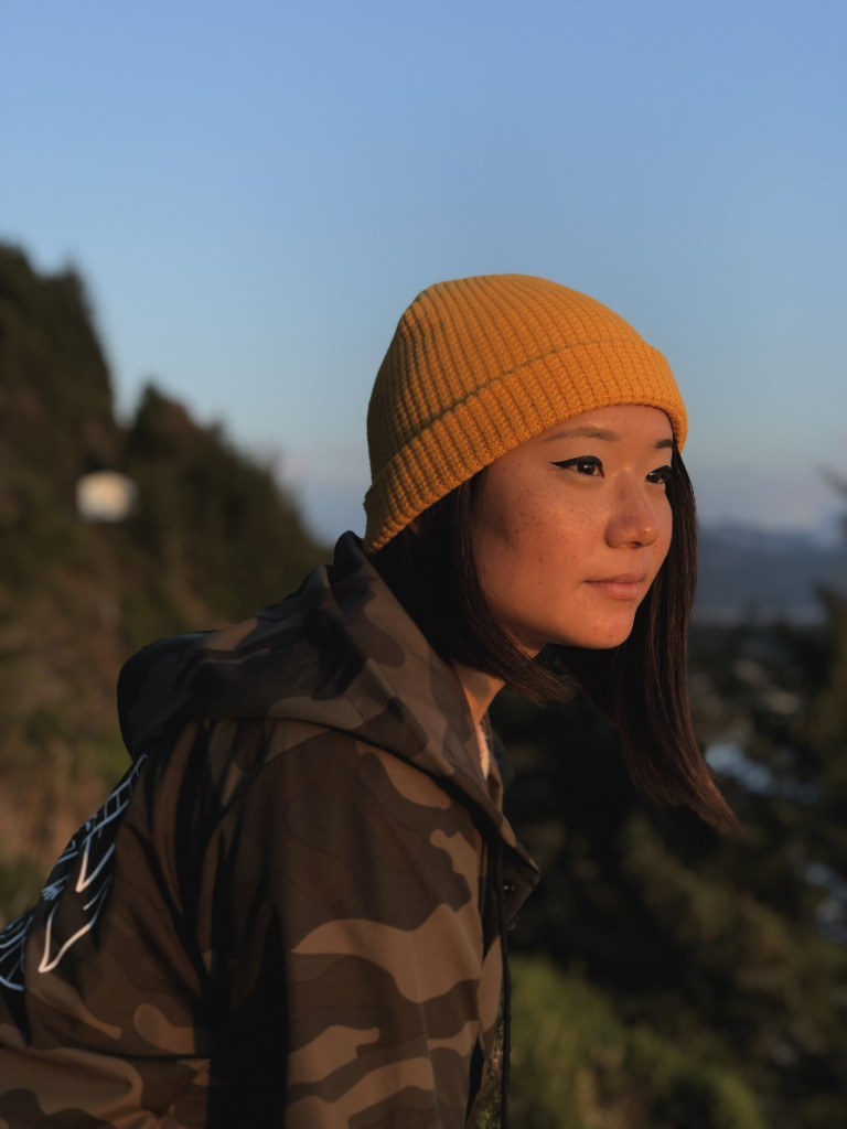 Michelle Mee Nutter, Yellow hat, Mountains, Author, Photograph