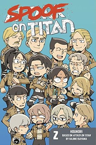 Spoof on Titan, Volume 2, Hajime Isayama, hounori, blue, Attack on Titan, 4-koma, manga, humour, men, women, Eren Yaeger, Mikasa, Armin, Hange