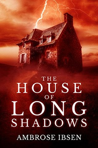 The House of Long Shadows, Orange, Ambrose Ibsen, Orange, Red, House, Lightning, Dark, Ambrose Ibsen, Horror, Ghosts,