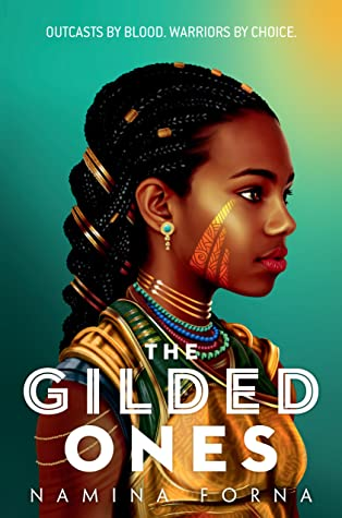 Girl, Necklaces, Braid, Earrings, The Gilded Ones, Deathless, Book 1, Fantasy, Young Adult, Warriors, Namina Forna, Green background, Girl