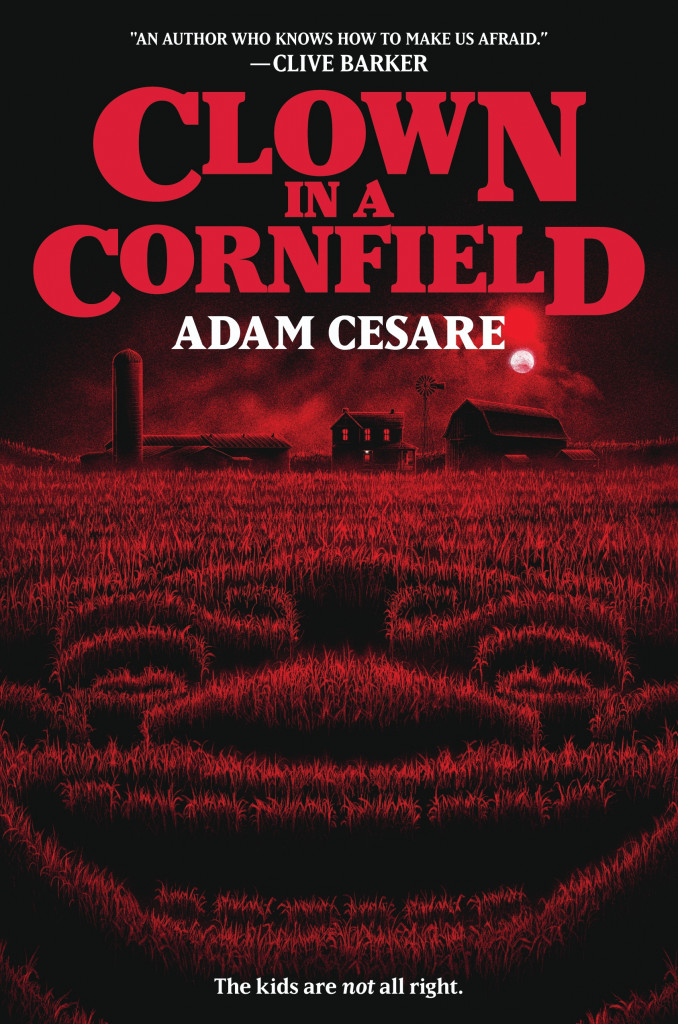 Red, Corn, Clown, Murder, Horror, Red, Clown in a Cornfield, Adam Cesare