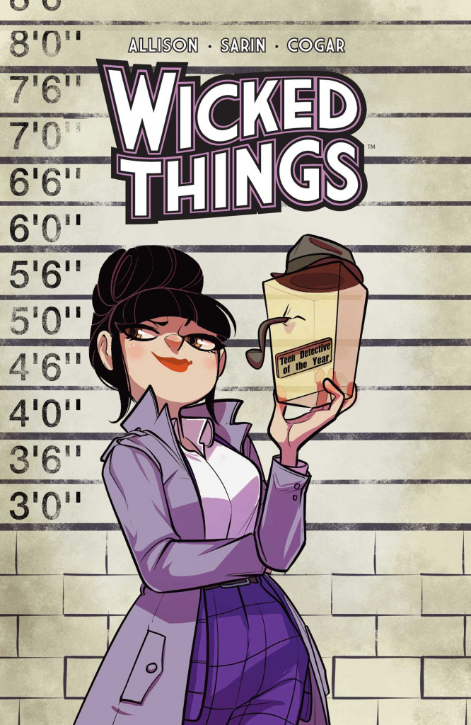 Wicked Things, John Allison, Woman, Purple Coat, Award, Graphic Novel, Mystery, Humour, Detective