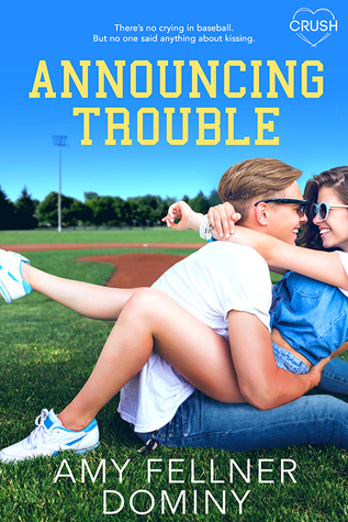 Announcing Trouble, Girl, Boy, Hugging, Grass, Blue Sky, Baseball, Sports, Young Adult, Amy Fellner Dominy