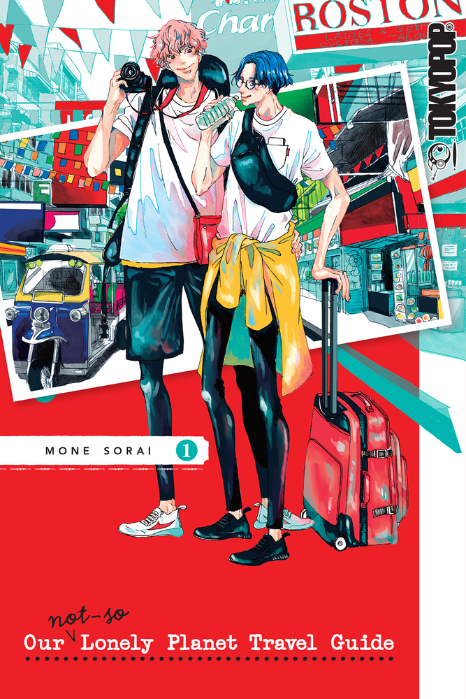 Red, Baggage, Photographs, Men, Our Not-So-Lonely Planet Travel Guide, Volume 1, Mone Sorai, Manga, Travelling, Romance, LGBT, Vacation, Fun, Cute,
