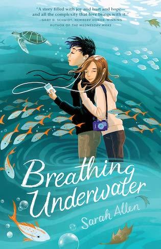 Breathing Underwater, Middle Grade, Road Trip, Sister, Family, Girl, Hugging, Music, Fish, Water, Sarah Allen