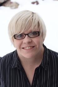 Sarah Allen, White/Blonde Hair, Glasses, Author