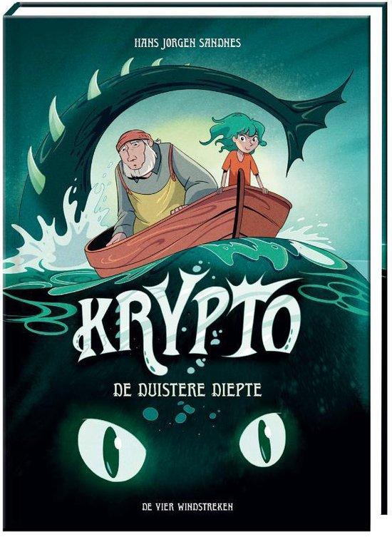 Krypto 1 - De duistere diepte, Hans Jørgen Sandnes, cryptozoology, monsters, adventure, fantasy, foster family, sea, boat, man, girl, children's books,