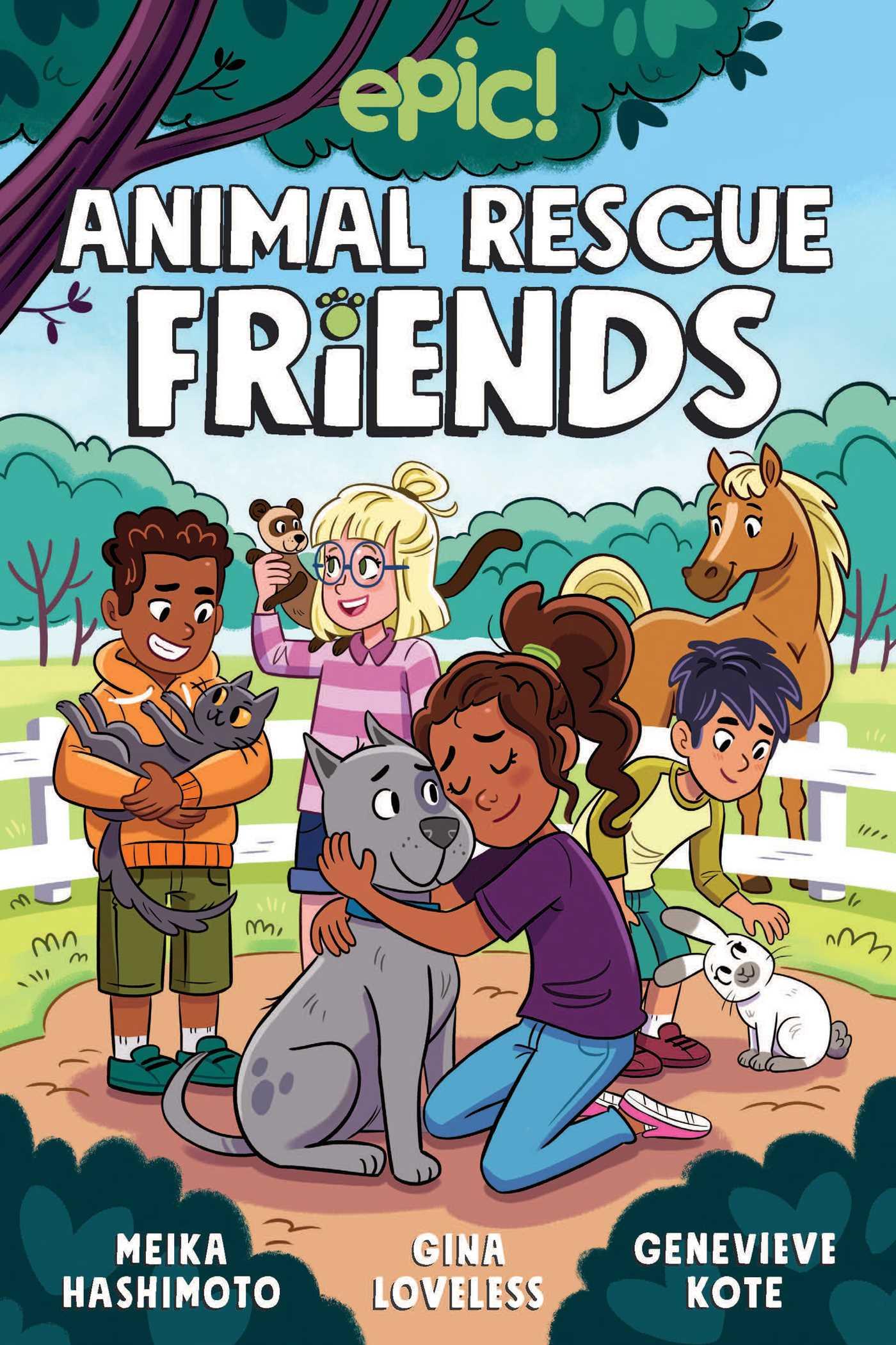 Animal Rescue Friends, Gina Loveless, Meika Hashimoto, Genevieve Kote, Boys, Girls, Pets, Animals, Graphic Novel, Children's Books, Rescue Centre