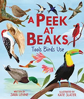 A Peek at Beaks: Tools Birds Use, Sara Levine, Kate Slater, Birds, Non-fiction, Cover Love, Children's Books, Animals