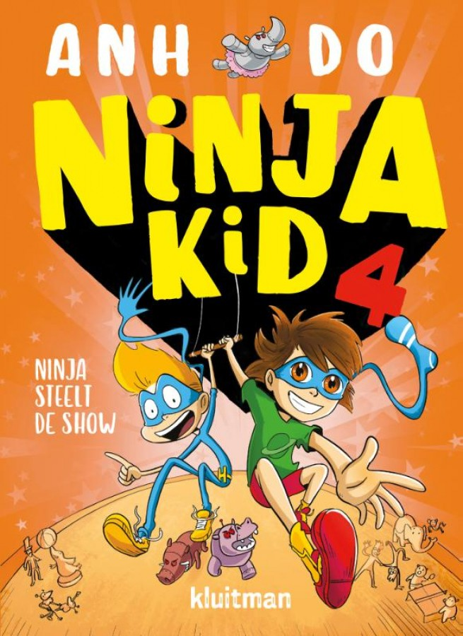 Ninja steelt de show, Ahn Do, Orange, Boys, Superheroes, Humour, children's Books, Funny, Friendship, Villains
