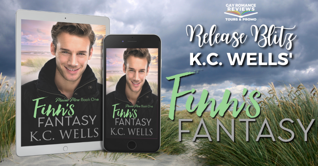 Finn's Fantasy, K.C. Wells, Guy, Grass, Dark Clouds, Romance, LGBT, Dual POV, Cute,