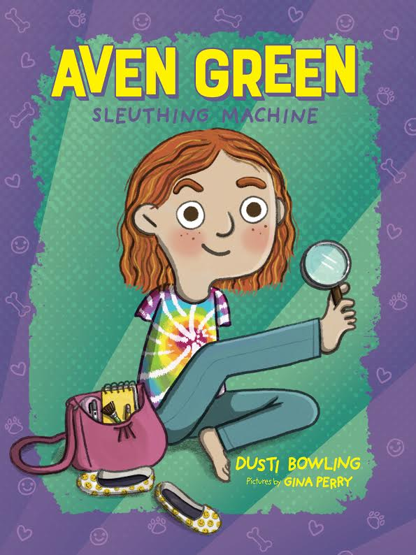 Aven Green Sleuthing Machine, Dusti Bowling, Gina Perry, Children's Books, Mystery, Detective, Girl, Bag, Shoes,