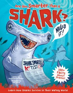 Are You Smarter Than a Shark?, David George Gordon, Sharks, Newspaper, Fish, Humour, Children's Books, Non-fiction, Illustrations