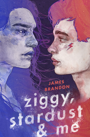 Ziggy, Stardust and Me, james brandon, historical fiction, lgbt, romance, young adult, red, purple, boys, finding yourself