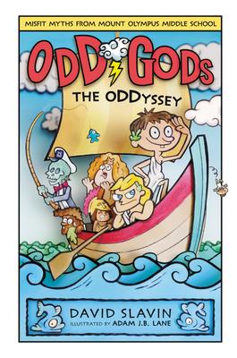 Odd Gods: The Oddyssey, David Slavin, Daniel Weitzman, Adam J.B. Lane, Twins, Gods, Odds, Humour, Children's Books, Mythology, Boat, Friendship, Underworld