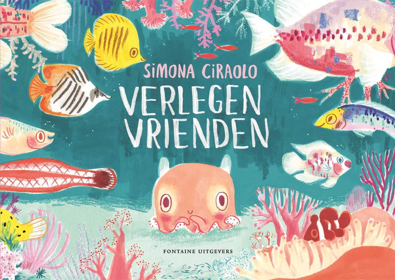 Verlegen Vrienden, Animals, Sea, Ocean, Shy, Cute, Picture Book, Children's Books, Friendship, Surprise, Simona Ciraolo
