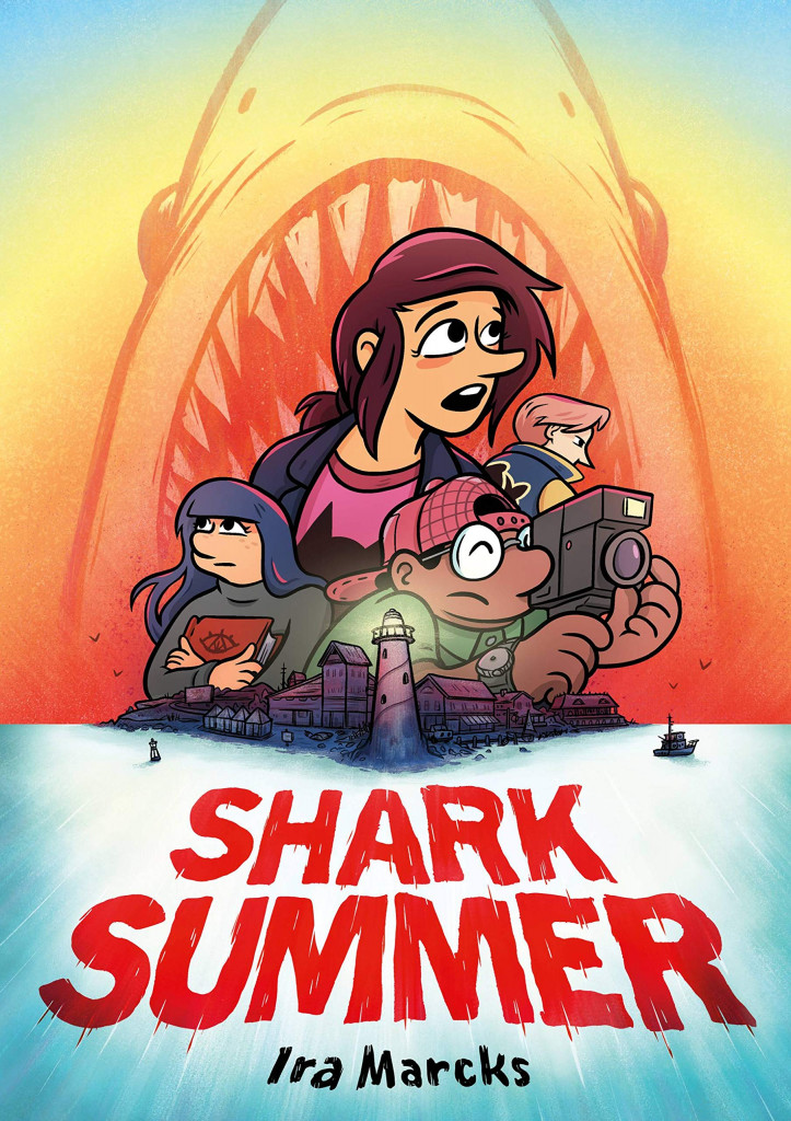Shark Summer, Ira Marcks, Sharks, Graphic Novel, Friendship, Camera, Young Adult, Children's Books