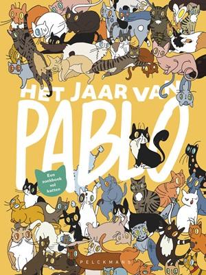 Het jaar van Pablo, Julie Vangeel, Yellow, Search and find, cats, celebrities, references, children's books,