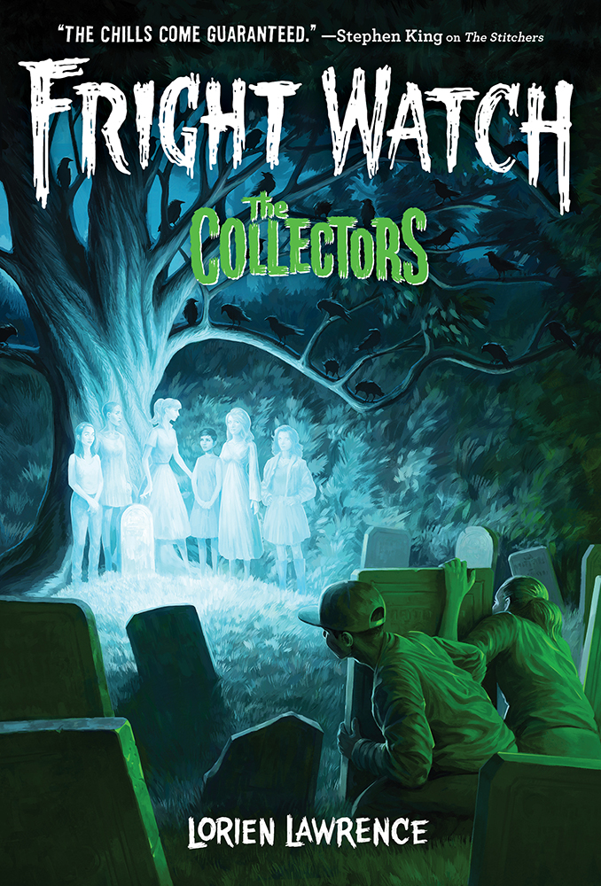 Fright Watch, The Collectors, Book 2, Lorien Lawrence, Children's Books, Horror, Scary, Mystery, Ghosts, Graveyard, Tree