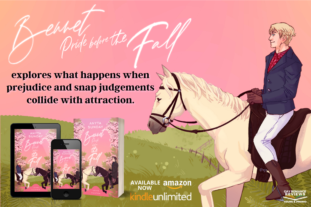 Bennet Pride Before the Fall, Pink, Anyta Sunday, Romance, LGBT, Retelling, Pride and Prejudice, Horses, Pink, Trees, Cute, Humour