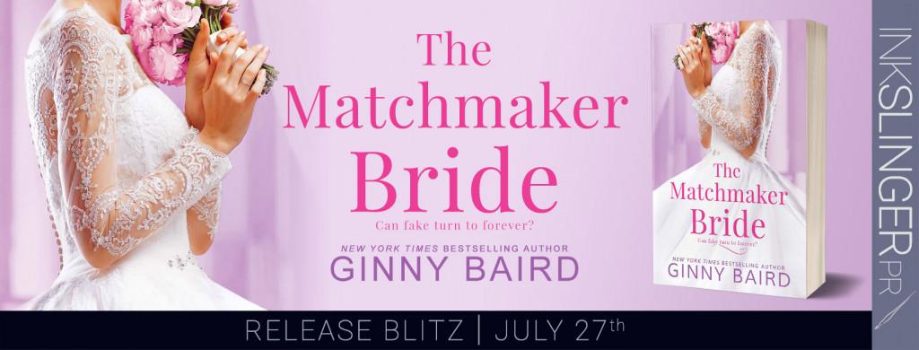 The Matchmaker Bride, Wedding Dress, Romance, Dual POV, Fake Dating, Pink, Purple, Ginny Baird