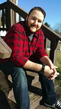 Devon Taylor, Author, Stairs, Photograph, Red Shirt