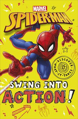 Marvel Spider-Man Swing Into Action!, Superheroes, Spiderman, Spiderverse, Marvel, Illustrations, Children's Books, Yellow