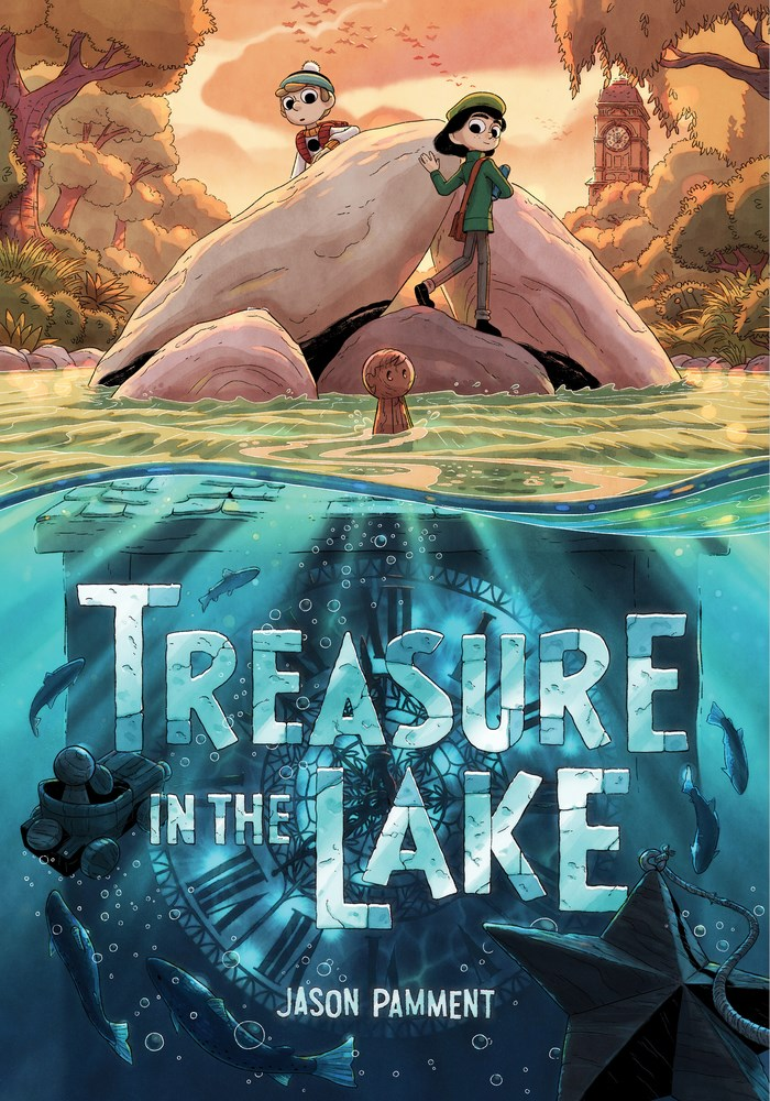 Treasure in the Lake, Jason Pamment, Fantasy, Children's Book, Lake, Fault, Treasure, Adventure, Graphic Novel,