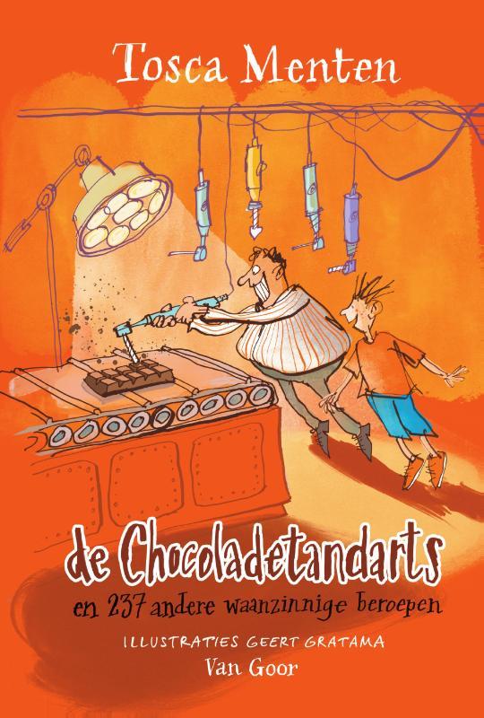 Chocoladetandarts en 237 andere waanzinnige beroepen, orange, boy, man, chocolate, humour, Children's books, jobs, funny, silly
