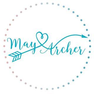 May Archer, Logo, Blue, Arrow, Heart