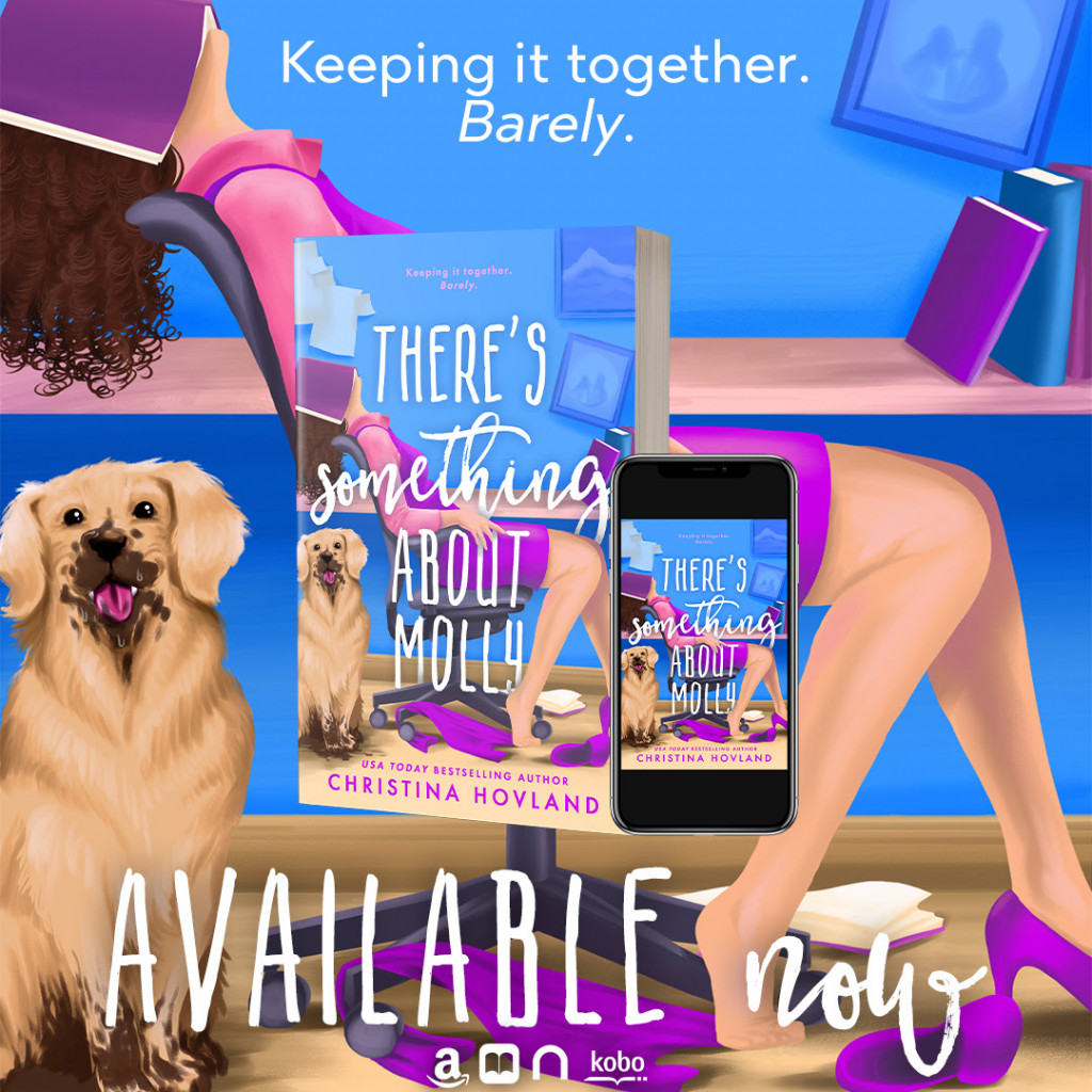 There's something about molly, Blue, Girl, Office, Dog, Romance, Humour, Enemies to lovers, Christina Hovland, Romance