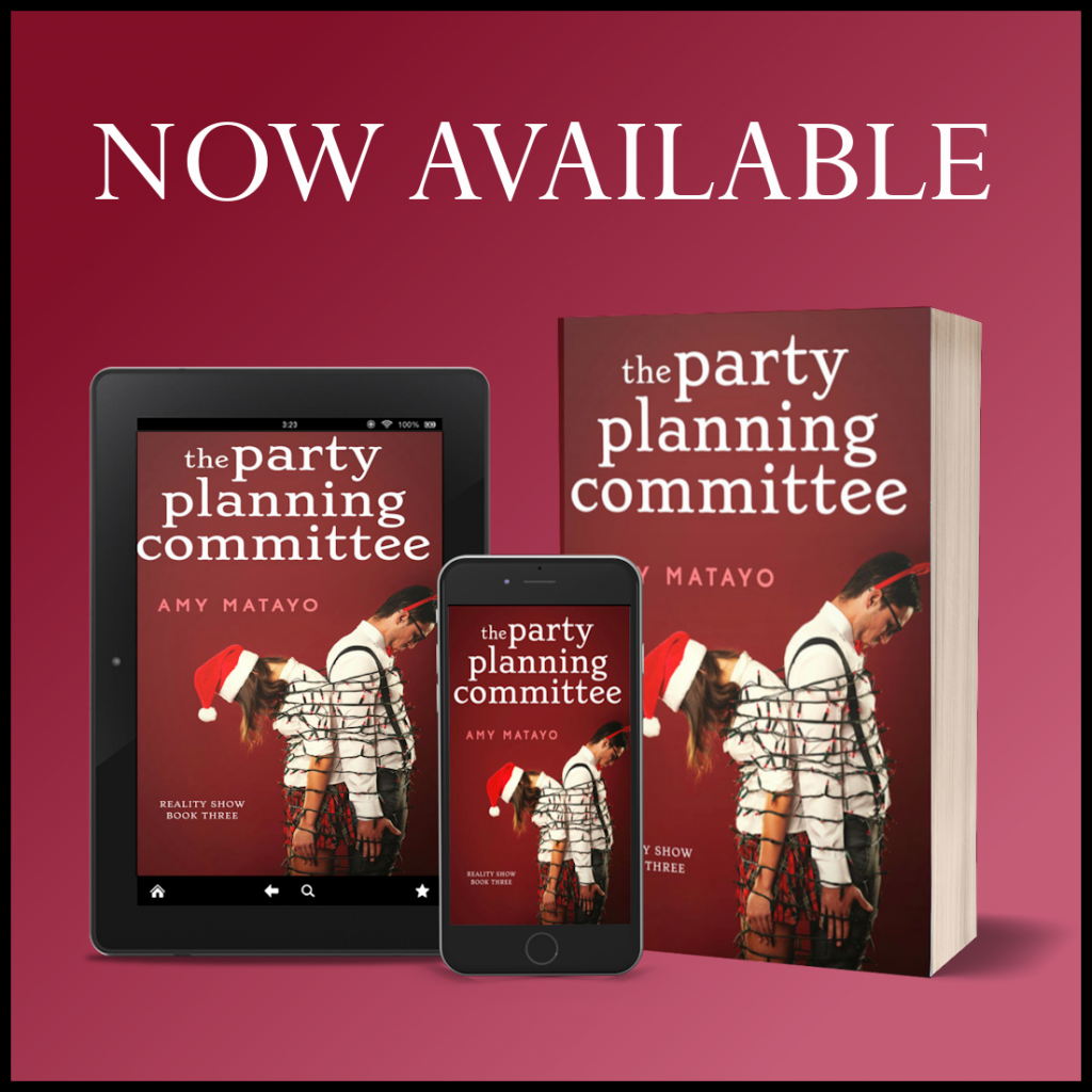 The Party Planning Committee, Amy Matayo, Reality Show Book, Red, Tied Up, Christmas, Humour, Romance